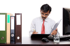 Indian businessman working in office Stock Photo