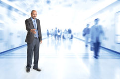 Indian businesspeople offer hand shake Royalty Free Stock Photo