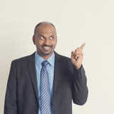 Indian businesspeople pointing something Stock Image