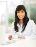 Indian businesswoman coffee Royalty Free Stock Image