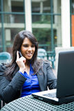 Indian businesswoman with laptop Royalty Free Stock Photography