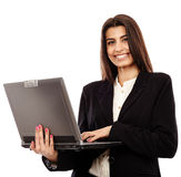 Indian businesswoman with laptop Stock Photo