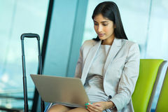 Indian businesswoman laptop Royalty Free Stock Photography