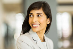 Indian businesswoman looking back Royalty Free Stock Image