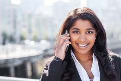 Indian businesswoman on the phone Stock Image