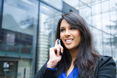 Indian businesswoman on the phone Royalty Free Stock Photography