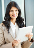 Indian businesswoman tablet computer Royalty Free Stock Images
