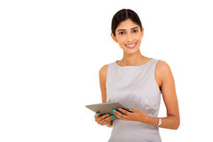 Indian businesswoman tablet pc Royalty Free Stock Photography