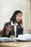 Indian businesswoman talking on telephone Stock Photos
