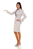 Indian businesswoman welcome gesture Stock Photography