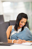 Indian businesswoman working Stock Photography