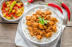 Indian butter chicken Royalty Free Stock Image