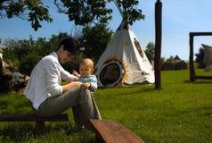 Indian camp stock photos