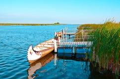 Indian canoe royalty free stock photo
