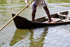 Canoe in India Stock Photography