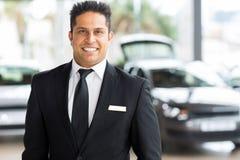 Indian car salesman showroom Stock Photo