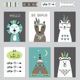 Indian cards set Royalty Free Stock Photo