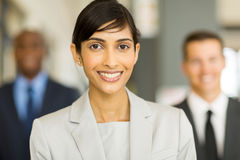 Indian career woman. Pretty indian career woman looking at the camera Stock Photo