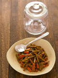 Indian carrot and bean pickle Royalty Free Stock Photos