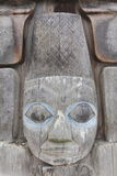 Indian Carving. A carving created by a Coast Salish craftsman Royalty Free Stock Image