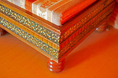Indian carving furniture Royalty Free Stock Photography