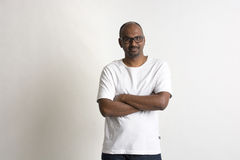 Indian casual male bald Royalty Free Stock Images