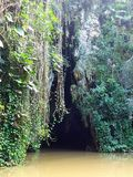Indian cave in cuba Royalty Free Stock Images