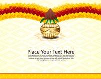Indian Celebration Bakcground With Flower Stock Images