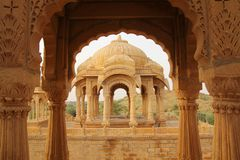 Indian cenotaphs Stock Photo