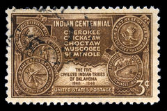 Indian Centennial US Postage Stamp Royalty Free Stock Images