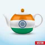 Indian ceramic teapot. Vector illustration. Stock Images