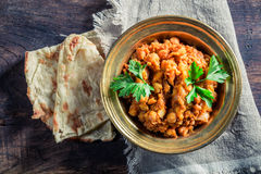 Indian Channa Masala with chickpeas Stock Image