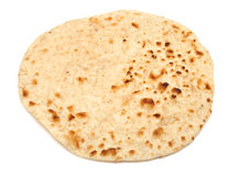 Indian Chapati Bread Isolated on White. Indian chapati bread on white background Royalty Free Stock Photo