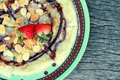 Indian Chapati Breads or roti dough and strawberry fruit. Stock Photography