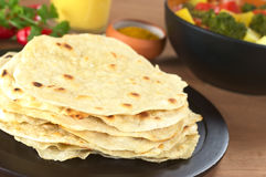 Indian Chapati Flat Bread Stock Photo