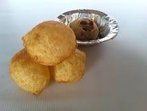 Indian Chat Puri. Paani puri chat Royalty Free Stock Image
