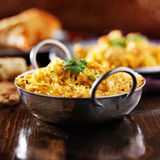 Indian chicken biryana in balti dis