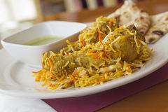 Indian Chicken Biryani Stock Images