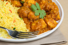 Indian Chicken Curry. Chicken dansak curry with lentils Stock Photography