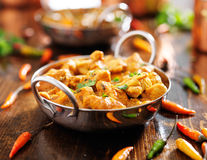 Indian chicken curry in balti dish Royalty Free Stock Photo