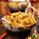 Indian chicken curry in balti dish. With chopped cilantro leaves Royalty Free Stock Images