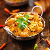 Indian chicken curry in balti dish. Shot in square composition Royalty Free Stock Photo
