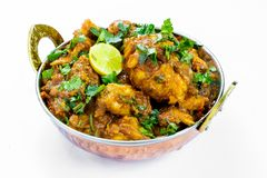Indian chicken curry with Indian spices royalty free stock image