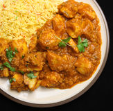 Indian Chicken Curry Food Dinner Royalty Free Stock Photos