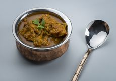 Indian chicken curry or kadai chicken Stock Image