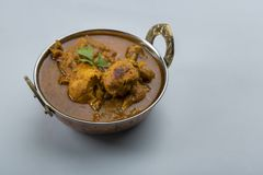 Indian chicken curry or kadai chicken Royalty Free Stock Image