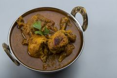 Indian chicken curry or kadai chicken Royalty Free Stock Photos