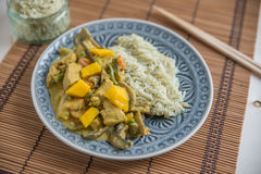 Indian Chicken curry with mango Royalty Free Stock Image