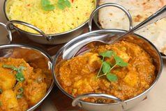 Indian Chicken Curry Meal Stock Images