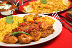 Indian Chicken Curry Meal Stock Image